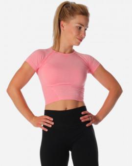Krátké tričko na jógu Pink...